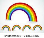 rainbow vectors | Shutterstock .eps vector #218686507