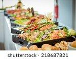 catering eat food wedding  | Shutterstock . vector #218687821