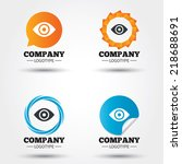 eye sign icon. publish content...   Shutterstock .eps vector #218688691
