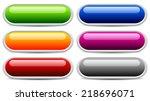 glossy button  banner templates ... | Shutterstock .eps vector #218696071