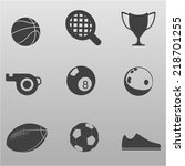 sports icons vector collection | Shutterstock .eps vector #218701255