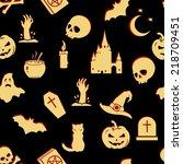 vector seamless halloween...   Shutterstock .eps vector #218709451