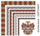 floral vintage frame design.... | Shutterstock .eps vector #218714647