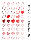 illustrated red hearts | Shutterstock .eps vector #21872233