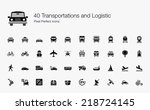 transportation and logistic... | Shutterstock .eps vector #218724145