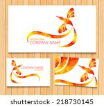 abstract colorful hummingbird... | Shutterstock .eps vector #218730145