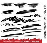 scribble smears hand drawn in... | Shutterstock .eps vector #218737141