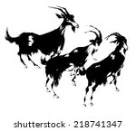 illustration of goat | Shutterstock . vector #218741347
