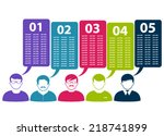 people icons | Shutterstock .eps vector #218741899