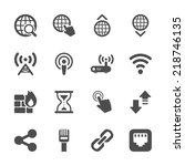 network icon set  vector eps10. | Shutterstock .eps vector #218746135
