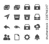 email icon set  vector eps10.
