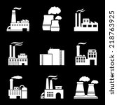factory and power plants icons...   Shutterstock .eps vector #218763925