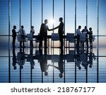 group of business people... | Shutterstock . vector #218767177