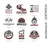 formula 1 icon set  sport icons ... | Shutterstock .eps vector #218769514