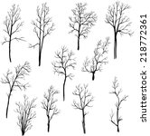 set of different winter trees ... | Shutterstock .eps vector #218772361