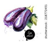 eggplants. hand drawn... | Shutterstock .eps vector #218772451