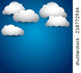 vector sky with clouds... | Shutterstock .eps vector #218772934