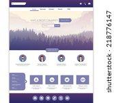 modern flat style website...