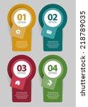 web number option banner set | Shutterstock .eps vector #218789035