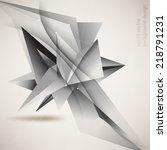 eps10 vector origami inspired... | Shutterstock .eps vector #218791231