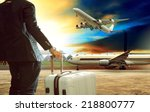 young business man standing... | Shutterstock . vector #218800777