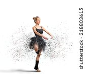 active dancer with motion...   Shutterstock . vector #218803615