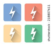 flat lightning icons. vector...