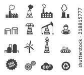 industry icons  mono vector...   Shutterstock .eps vector #218815777