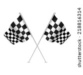 racing flag  checkered flag ... | Shutterstock .eps vector #218816314