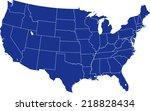 usa map  | Shutterstock .eps vector #218828434