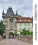 historic gatehouse in meissen ... | Shutterstock . vector #218831734