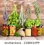 Various Fresh Herbs And Canned...