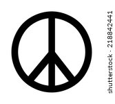 sign of peace  | Shutterstock . vector #218842441