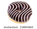 delicious tasty donuts isolated ... | Shutterstock . vector #218844865