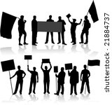 demonstration people   black... | Shutterstock .eps vector #21884737