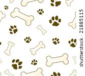 Bone And Paw Texture In Brown