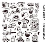 coffee icons  illustration... | Shutterstock .eps vector #218851891