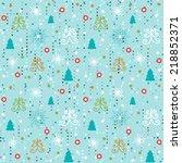 seamless christmas pattern.... | Shutterstock .eps vector #218852371
