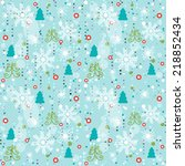 seamless christmas pattern.... | Shutterstock .eps vector #218852434
