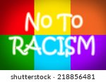 no to racism concept  text on...   Shutterstock . vector #218856481