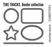tire tracks frame set | Shutterstock . vector #218857051