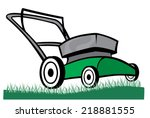 an illustration of a lawn mower ... | Shutterstock .eps vector #218881555