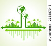 ecology concept with eco earth  ... | Shutterstock .eps vector #218887045