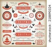 christmas decoration vector... | Shutterstock .eps vector #218890324