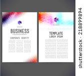 abstract vector template design ... | Shutterstock .eps vector #218899894