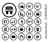 shopping and delivery icon set  | Shutterstock .eps vector #218902819