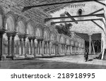 cloister of the monastery of... | Shutterstock . vector #218918995