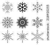 snowflakes set | Shutterstock .eps vector #218920255
