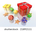 a 3d render of some christmas... | Shutterstock . vector #21892111