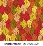 seamless autumn autumn vector... | Shutterstock .eps vector #218921269
